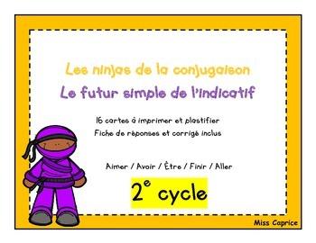 Ninjas du futur simple - Cartes à tâches - 2e cycle