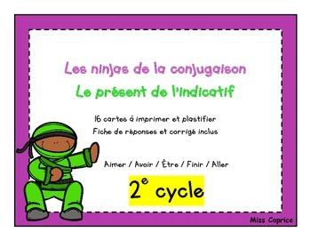 Ninjas du présent - Cartes à tâches - 2e cycle