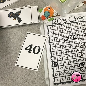 Math Number Cards  Numbers 1-100