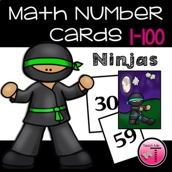 Math Number Cards Numbers 0-100