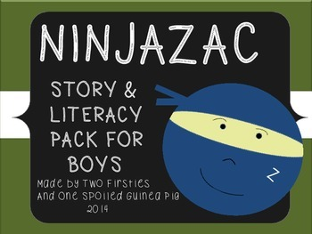Ninjazac 1 & 2 Stories and Literacy Pack BUNDLE {Phonics, Sight Words, Fluency}