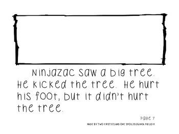 Ninjazac 1 & 2 Stories and Literacy Pack BUNDLE {Phonics, Sight Words, Fluency}
