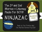 Ninjazac 1 & 2 Stories and Literacy Pack BUNDLE {Phonics,