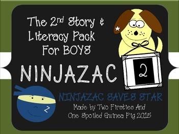 Ninjazac 2 Story & Ninja Literacy Pack {Phonics, Punctuation, Cause & Effect}