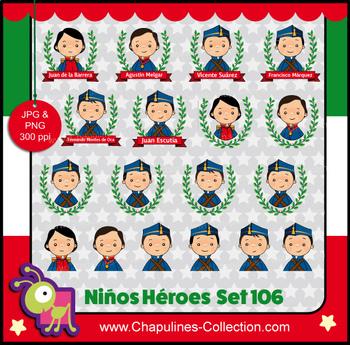 Niños Héroes Clipart, imágenes, Boy heroes images Set 106