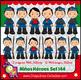 Niños Héroes clipart, imágenes de cuerpo completo - Boy heroes clipart Set 144