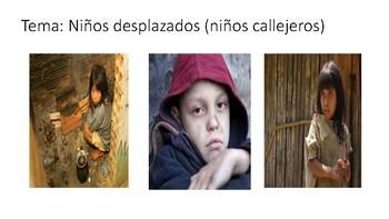 Niños y adultos desplazados en Colombia