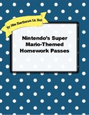 Nintendo's Super Mario-Themed Homework Passes