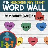 Ninth Fry Sight Words - Heart Word Wall