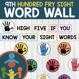 Ninth Hundred Fry Sight Words - High Five Word Wall