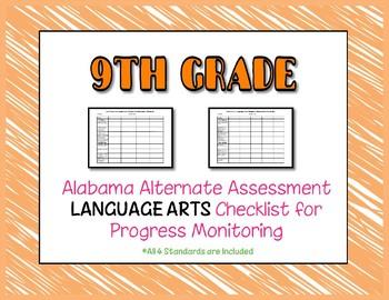 Ninth Grade AAA Language Arts Checklist Progress Monitoring