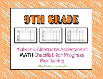 Ninth Grade AAA Math Checklist Progress Monitoring