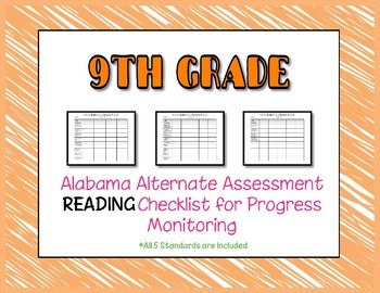 Ninth Grade AAA Reading Checklist Progress Monitoring