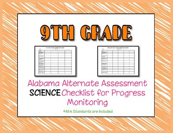 Ninth Grade AAA Science Checklist Progress Monitoring
