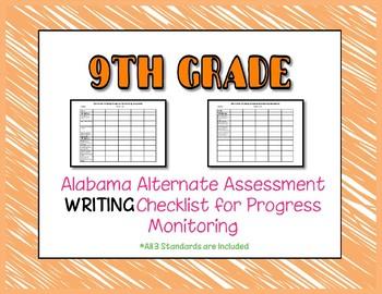 Ninth Grade AAA Writing Checklist Progress Monitoring