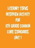 Ninth Grade Common Core Unit 1 Terms Activity