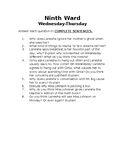Ninth Ward Comprehension/Discussion Questions