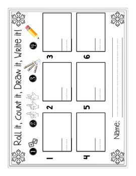 Nippy Number Sense {Roll it, Count it, Draw it, Write it Math Center}