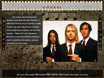 Nirvana (Kurt Cobain): 25 slides w text, hyperlinks, primary sources & handouts)