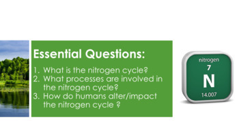 Nitrogen Cycle - Supplemental Lesson - No Lab