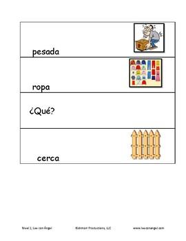 Nivel 2 Spanish Illustrated Flash cards