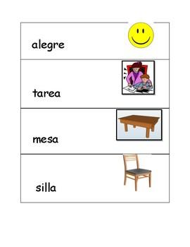 Nivel 3 Spanish Illustrated Flash cards
