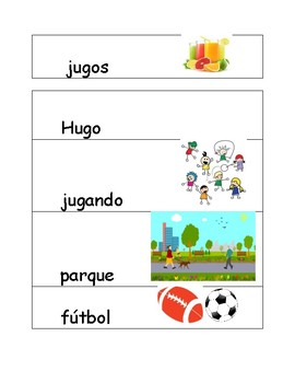 Nivel 4 Spanish Illustrated Flash cards