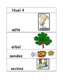 Nivel 4 Spanish Illustrated Flash cards