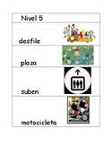 Nivel 5 Spanish Illustrated Flash cards