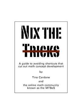 Nix The Trix: A  Free E-Book about Problems with Mathematical Tricks