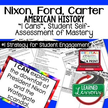 Nixon, Ford, Carter I Cans Student Self Assessment Mastery