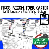 Nixon, Ford, Carter Lesson Plan Guide, American History BACK TO SCHOOL