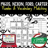 Nixon, Ford, Carter Vocabulary Activity Puzzle (Print and Digital)