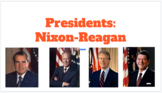 Nixon-Reagan Powerpoint notes- with fill in the blank notes worksheet