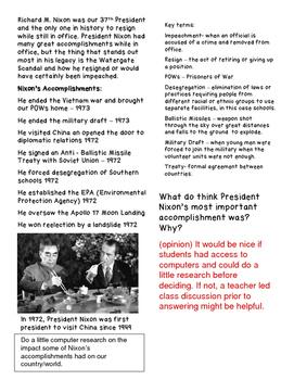 Nixon: Watergate Scandal and Accomplishments