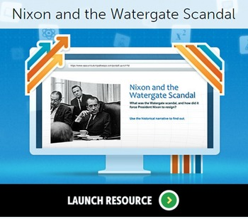 Nixon and the Watergate Scandal worksheet from SAS curricu