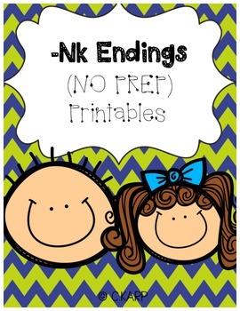Nk Endings (Orton Gillingham Inspired)