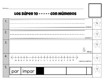 Números (0-20) - Los Súper 10 con números (10 Super Things to Do with a Number)