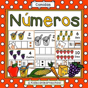Números 1-10-Food edition in Spanish