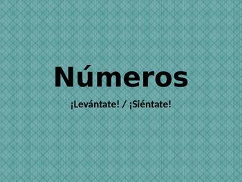 Números (Numbers in Spanish) Levantate Sientate