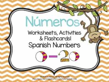 Números, Spanish Numbers 0-20
