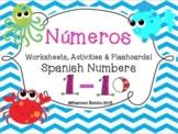 """""""Números"""" Spanish Numbers 1-10"""