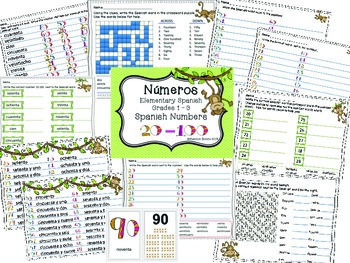 Números, Spanish Numbers 20-100