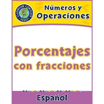 Números y Operaciones: Porcentajes con fracciones Gr. 3-5