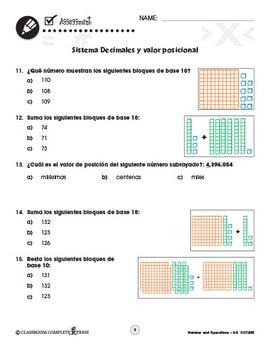 Números y Operaciones: Sistema Decimales y valor posicional Gr. 3-5