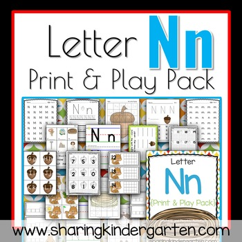 Letter Nn {Print & Play Pack}