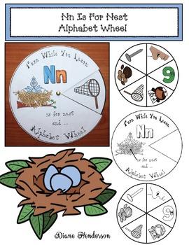 Nn Is For Nest Alphabet Wheel