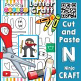 Nn | Letter Craft | ninja | Lowercase n | Phonics Garden