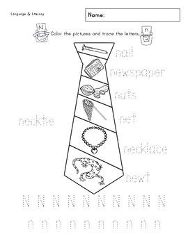 Nn Phonics & Printing Practice