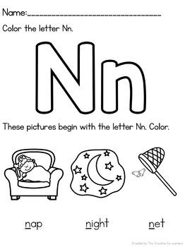 Letter N { Alphabet Practice }